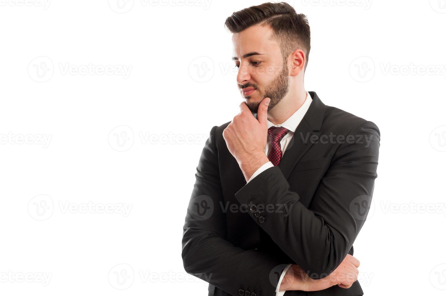 homem de negócios decepcionado foto