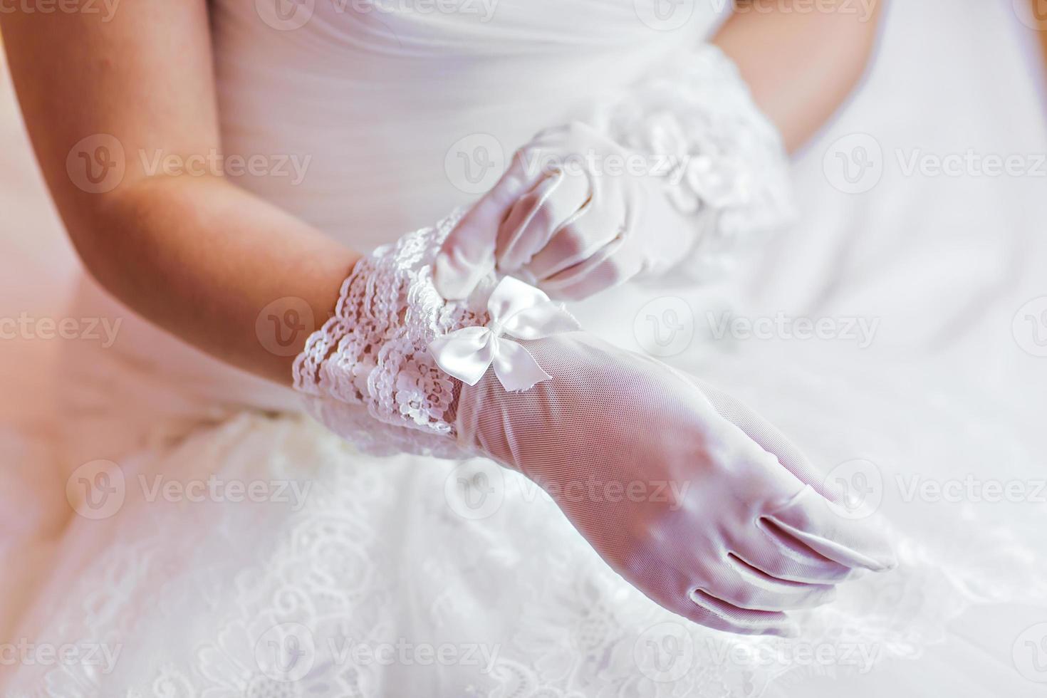 luvas de casamento foto