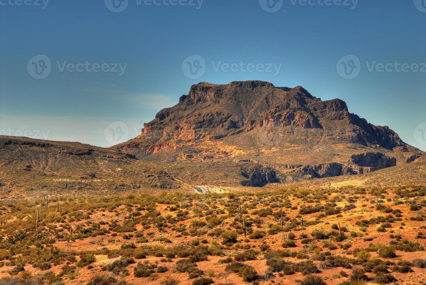 montanha do deserto foto
