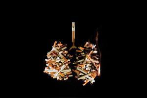 pulmões de um fumante (conceito) foto