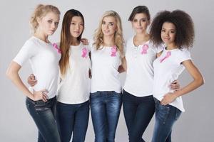 estas mulheres apoiam a luta contra o câncer de mama
