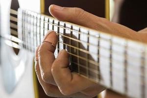 esforço de guitarra