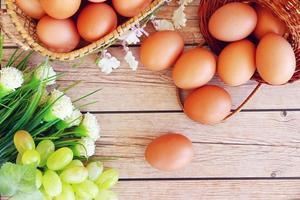ovos frescos foto