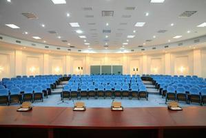 sala de conferências vazia foto