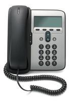 telefone IP isolado no fundo branco foto