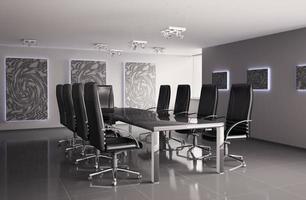 sala de conferências interior 3d foto