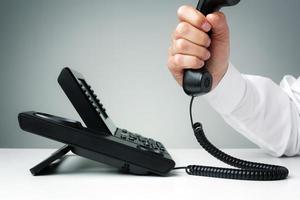 telefone fixo de negócios foto