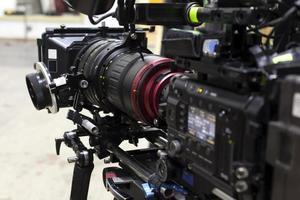 câmera de vídeo digital profissional. foto