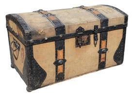 caixa de viagem antiga foto