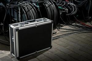 caso para a transferência de equipamento de vídeo. foto