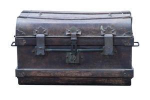 cofre de ferro vintage