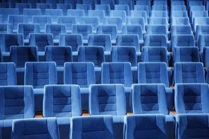 teatro, assentos, azul, assento, simetria, luz, salão, concerto, espetáculo, foto