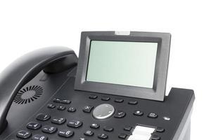 exibição do telefone comercial moderno