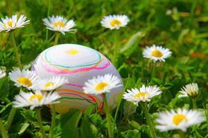 ovo de páscoa branco foto