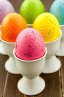 ovos de páscoa e cestas foto