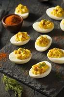 ovos cozidos picantes caseiros foto