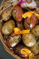 ovos de páscoa decorativos da polônia foto