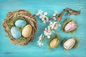 ovos de páscoa vintage foto