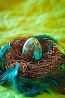 ovo de páscoa turquesa foto