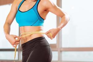 medição da cintura foto