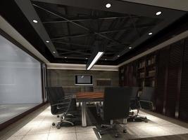 render foto-realista do escritório