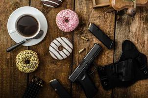 manhã policial americano foto