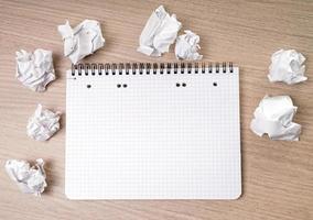 bloco de notas em branco