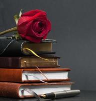 pilha de cadernos foto