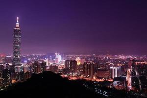 taipei, taiwan noite encantadora foto