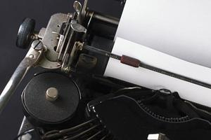 velha máquina de escrever foto
