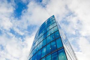 escritório comercial de arranha-céus, edifício corporativo em canary wharf, londres, inglaterra, foto
