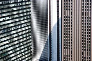 edifícios congestionados foto