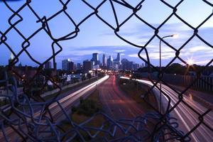 horizonte da paisagem urbana de minneapolis foto