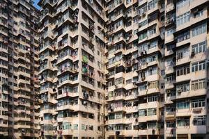 bloco de apartamentos público em hong kong foto
