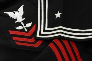 detalhe nos uniforme de marinheiro da marinha