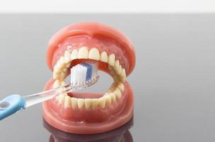 conceito de higiene e limpeza dentária