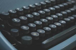 detalhe da máquina de escrever foto