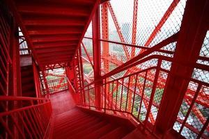 escadas torre-exterior de tóquio foto
