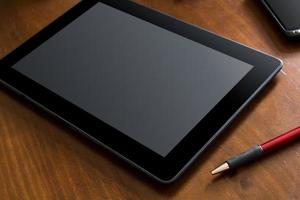 trabalho de negócios com tablet e smartphone foto