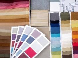 conceito de planejamento de decoração e renovação de interiores para casa foto