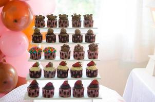 cupcakes e balões