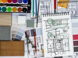 conceito de renovação e decoração de casa foto