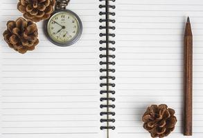 caderno de planejamento de tempo em branco foto