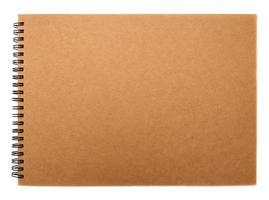 capa de caderno de papel reciclado foto