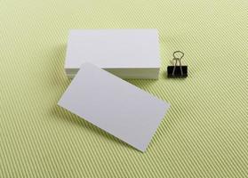 cartões de visita em verde