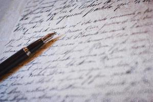 caneta de ouro foto