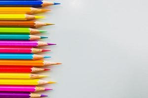 lápis de cor, isolados no fundo branco close-up