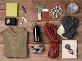 equipamento de mochila foto