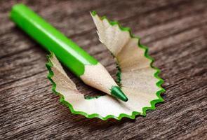 lápis e aparas foto