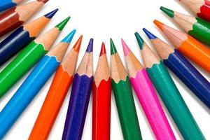 lápis arranjados foto